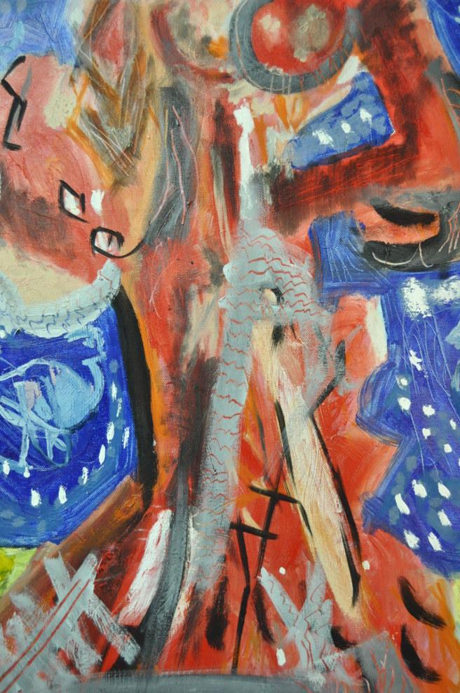 Folclórica Chagall Mixta sobre tela 50x60cm