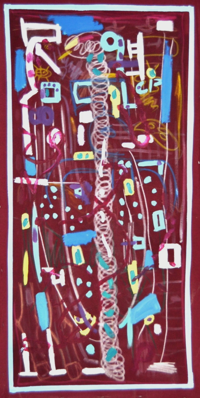 Microorganismos I Mixta sobre tela 160x80cm