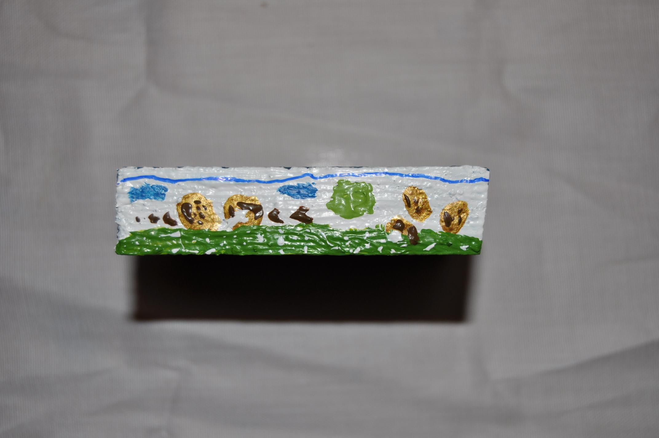 1Pintura Acrílico sobre madera.  8x1,5 cm
