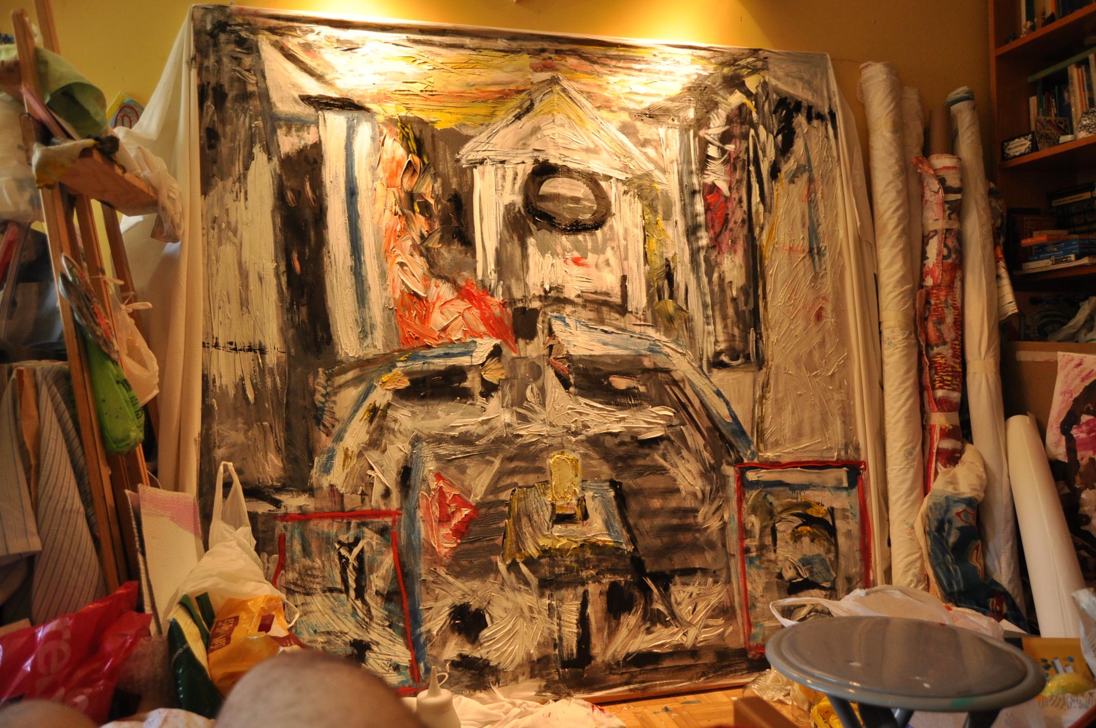 Pompeya, Óleo sobre tela, 160x190cm.